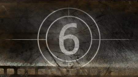 contagem regressiva : Movie countdown black and white displaying numbers