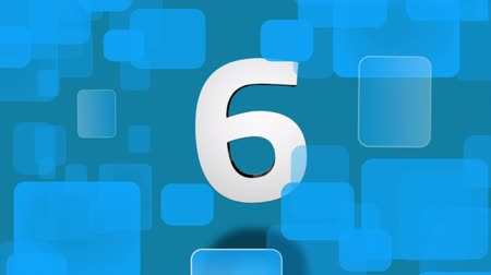 countdown leader : Countdown from ten to one animation against blue shape background Stock Footage