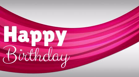 üdvözlettel : Digital composite of happy birthday against red and pink background