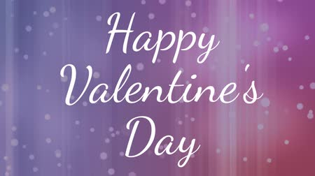 говорю : Digital composite of happy valentines day text against pink background Стоковые видеозаписи