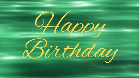 cytat : yellow happy birthday text and green water waves Wideo