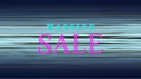 tebliğ : Front view of massive sale text against moving background