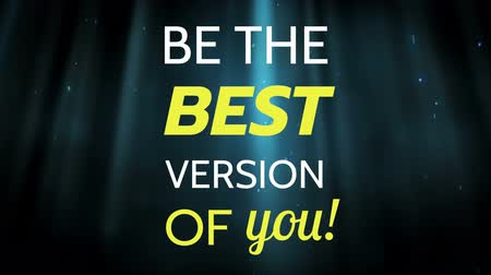 tentar : Front view of writing word be the best version of you