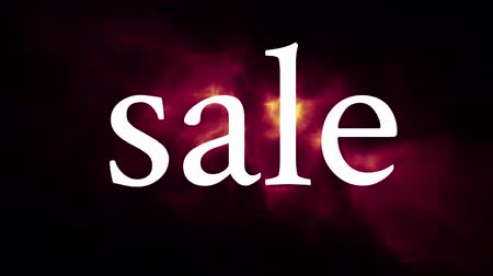 pontão : Front view of black Sale banner. Limited time offer vector Stock Footage