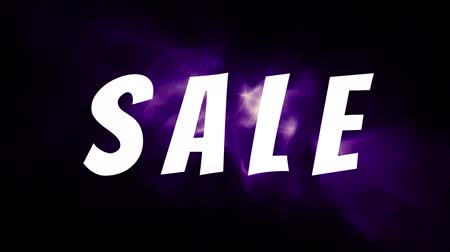 лозунг : Slogan Sale on a dark background with a purple smoke animation