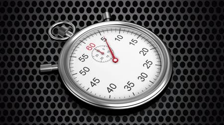 секунды : Digital animation of stopwatch with moving hands against a circle backgrounf