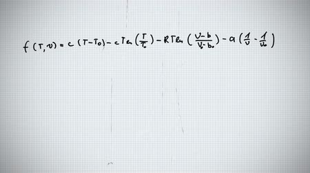 дополнение : Digital animation of mathematical equation written down in black ink against white background