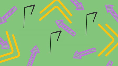 felkiáltás : Digitally generated exclamation point drawing. Background shows colored arrows.
