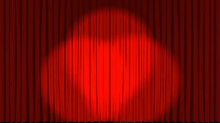 göz kamaştırıcı : Red theatre stage curtains opening up to reveal heavenly light