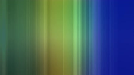 color swatch : Digital animation of a string of colours creating a curtain with shades of blue, yellow and green