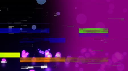 просвет : Digital animation of glowing purple marbles falling to the floor with flickering bars of lights as effects