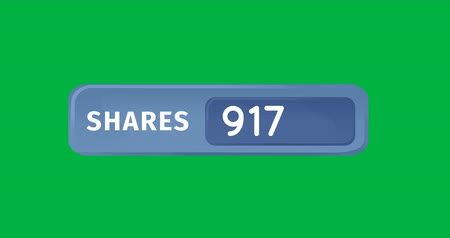 socialization : Animation of numbers increasing in a blue box on a green background 4k Stock Footage