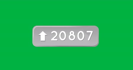 numerais : Animation of a grey arrow pointing up beside an increasing number count. The background is green 4k