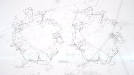 going round : Blurred view of a loop of block chain going round and forming a circle with random appearances of diagrams and bar graphs. Stock Footage