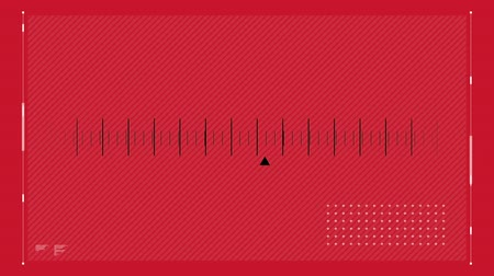 kurzor : Digital animation of a radio station cursor scrolling on a red background