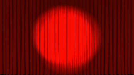 teatral : Animation of red colored curtains opening and yellow disco ball appears. Stock Footage