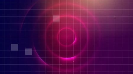 concêntrico : Digital animation of concentric circles in a wormhole with a foreground of grid lines