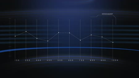 crescimento : Digital animation of a line graph