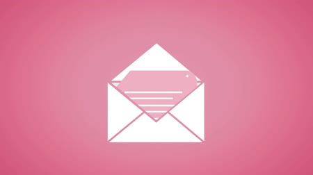 multimediální : Digital animation of an envelope containing a document on a pink background Dostupné videozáznamy