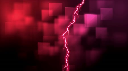 electric strike : Digital animation of pink lightning and colorful square patterns in the background Stock Footage