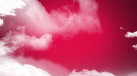 electric strike : Digital animation of pink lightning moving against a pink wall while clouds move in the screen