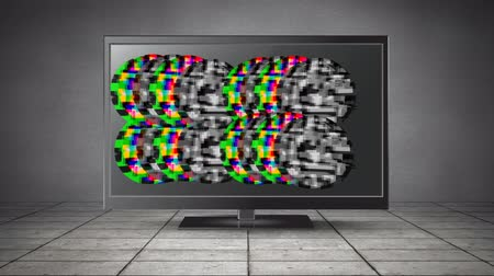 мерцание : Digital animation of colorful and monochrome static moving in an LCD screen