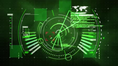 eye piece : Digital animation of futuristic interface with digital viewfinder and futuristic circles Stock Footage