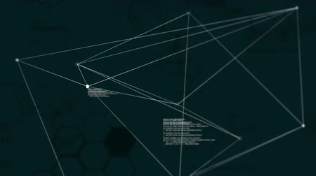 comando : Digital animation of program codes and asymmetrical lines moving in the screen Vídeos