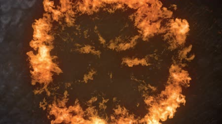 blast furnace : Digital animation of fire exploding against a dark background