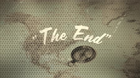 classici : Digital animation of a the end text of a movie. The background is an old map