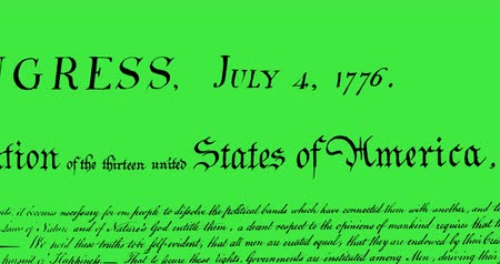 rukopisný : Digital animation of a written constitution of the United States moving in the screen against a green background. 4k