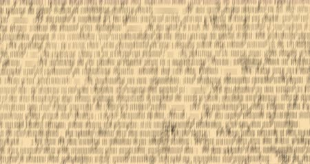 anayasa : Digital animation of a written constitution of the United States moving in the screen against a beige background. 4k Stok Video