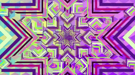 illúzió : Digital animation of mandala abstract image with different shapes and patterns. Stock mozgókép