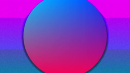 уменьшающийся : Animation of concentric green, blue and red circles enlarging and diminishing from the centre over a pink and blue background with a rising and falling white sun Стоковые видеозаписи