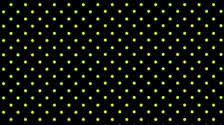 polca : Animation of a grid of bright yellow dots pulsating in unison on a black background