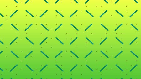 şekillendirme : Animation of enlarging and diminishing green lines forming a pulsating square grid on a yellow gradient background