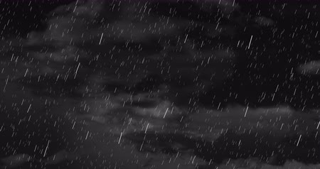 homály : Digital animation of Dark Stormy Sky with rain and clouds with copy space 4k