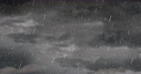мрачный : Digital animation of Dark Stormy Sky with rain and clouds with copy space 4k