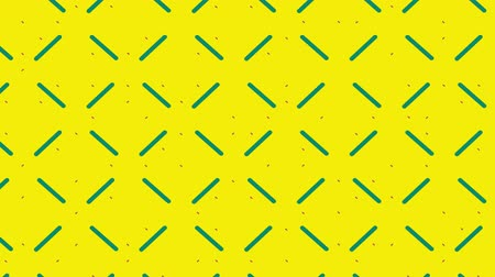 уменьшающийся : Animation of enlarging and diminishing green lines forming a pulsating square grid on a yellow background