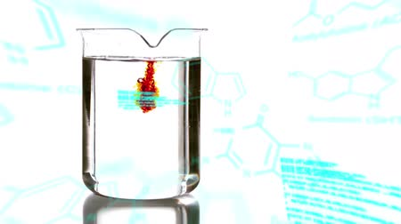 strukturální : Animation of a laboratory beaker being filled with coloured chemical liquid, with data and structural formula of chemical compounds in the foreground Dostupné videozáznamy