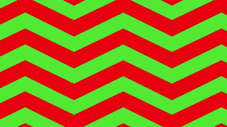 wrapping paper : Animation of red zig zag Christmas pattern on green screen