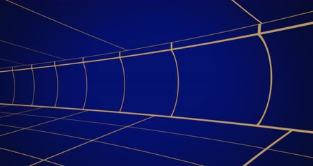 paralelo : Animation of moving blue grid lines on dark blue background 4k Vídeos