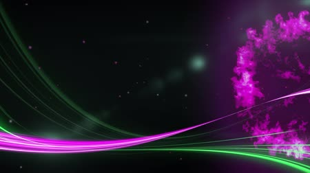 bafat : Animation of a pink and a green light trail and a ring of pink smoke with defocussed light on a dark background Dostupné videozáznamy