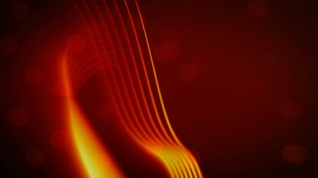 whirling : Animation of slow moving glowing orange parallel lines of orange light moving on a hazy dark red background