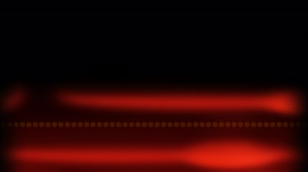 légköri : Animation of glowing pulsating red light trails on black background