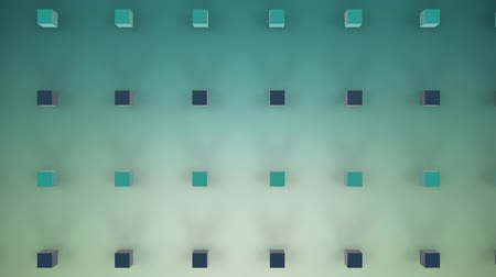 ordnung : Animation of 3d green and black cubes in formation on a faded green background
