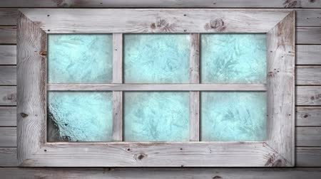 pane : Animation of frost setting on glass from top corner, transitioning and disappearing in cold winter on black backgroundAnimation of frost setting on glass from left to right, transitioning and disappearing in cold winter on black background