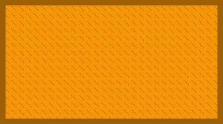 zęby : Animation of brown zig zag shapes in diagonal lines in formation with brown frame on orange background Wideo