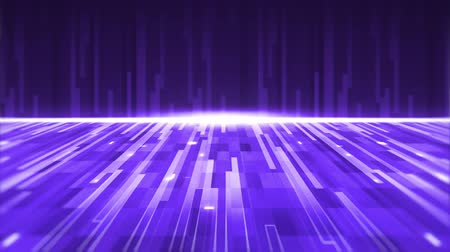 фиолетовый : Animation of seamless loop of multiple purple and white glowing light trails moving fast with white glowing horizontal line. Digitally generated light movement.