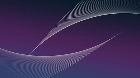 global business : Animation of network of moving and crossing lines of flow of information on gradient purple background. Digital computer information communication and connection concept digitally generated image. Stock Footage